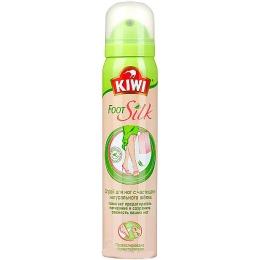 Kiwi спрей для ног, с частицами натурального шелка, 100 мл