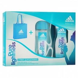 """Adidas набор женский """"Pure Lightness"""" освежающая парфюмированная вода 75мл + гель для душа 250 мл + сумка для шопинга"""