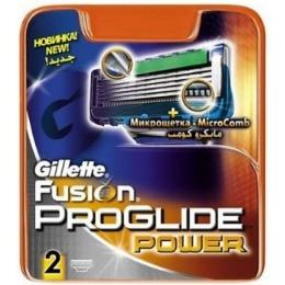 """Gillette сменные кассеты для бритья """"Fusion ProGlide Power"""", 2 шт"""