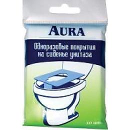 Aura одноразовые покрытия для унитаза, 10 шт