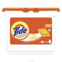"""Tide гель для стирки белых и цветных вещей """"Альпийская свежесть"""" в растворимых капсулах, автомат, 16х35 г"""