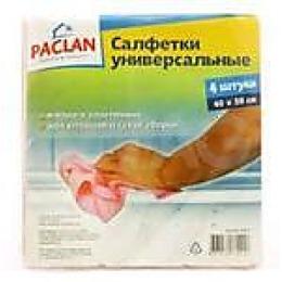 "Paclan салфетка для уборки ""Practi"" нетканное полотно 38х40 см, 4 шт"