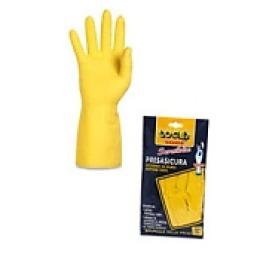 Logex Перчатки резиновые 30см р-р.7.5(напыление из хлопка), тон желтый, 1шт