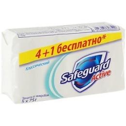 """SafeGuard мыло """"Классическое"""" 4*75 г + 1 шт"""