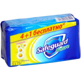 "SafeGuard мыло ""Ромашка"" 4*75 г + 1 шт"