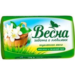 """Весна мыло """"Весна. Жасмин и зелёный чай"""", 90 г"""