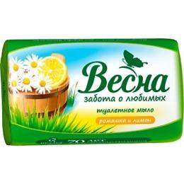 "Весна мыло ""Весна. Ромашка и лимон"", 90 г"