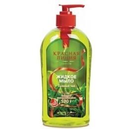 """Красная линия жидкое мыло """"Зеленый чай"""", 520 г"""