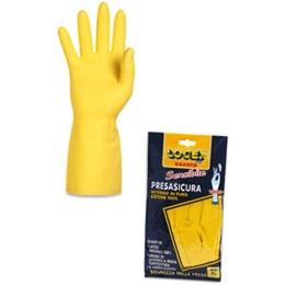 Logex Перчатки 30см р.8,5 из резины с нитрилом, тон желтый, 1шт