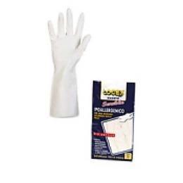 Logex Перчатки 30см р.7 из резины с нитрилом, белые