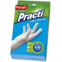 """Paclan перчатки """"резиновые L"""", 10 шт"""