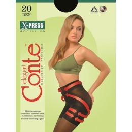 """Conte колготки """"X-press 20"""" утягивающие, размер 5, nero"""