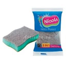 """Nicols губка поролоновая """"Netto protekt""""  для стеклокерамики, 1 шт"""