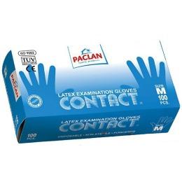 "Paclan Перчатки ""Contact"" из латекса, размер M 100шт"