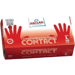 "Paclan Перчатки ""Contact"" из латекса, размер L 100шт"