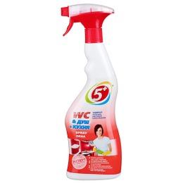 "5+ пена чистящая ""WC  душ + кухня"" 750 мл"