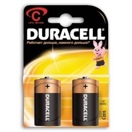 "Duracell батарейки алкалиновые ""Basic"" C, 1.5v lr14, 2 шт"