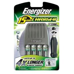 """Energizer зарядное устройство """"15 min charger"""" + 4 аккумулятора пальчиковые 2200"""
