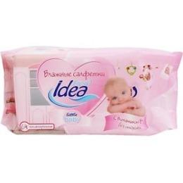 """Fresh Idea влажные салфетки """"Llittle baby"""" гипоаллергенные, 64 шт"""