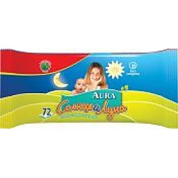 Солнце и Луна влажные салфетки для детей освежающие, 72 шт