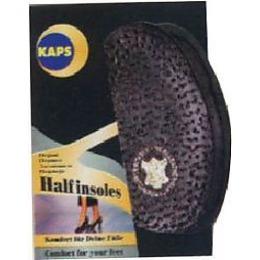 """Kaps полустелька """"Нalfled black"""" кожа/латекс/уголь"""