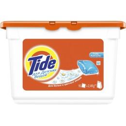 """Tide гель для стирки белых и цветных вещей """"Детский"""" автомат, в растворимых капсулах"""
