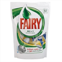 "Fairy средство для мытья посуды ""All in 1"" для посудомоечных машин, в капсулах"