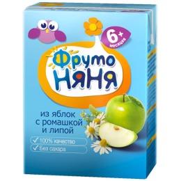 """Фруто Няня напиток """"Яблоки с ромашкой и липой"""" с 6 месяцев, 200 мл"""