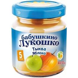 """Бабушкино Лукошко пюре """"Тыква и яблоко"""" с 5 месяцев, 100 г"""