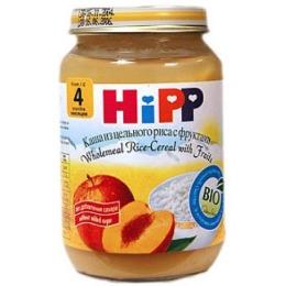 Hipp каша из цельного риса с фруктами, с 5 месяцев, 190 г