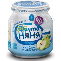"""Фруто Няня пюре """"Яблоко со сливками"""" с 6 месяцев, 100 г"""