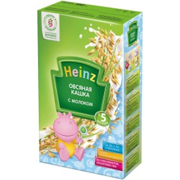 """Heinz кашка молочная """"Овсяная"""" с 5 месяцев, 250 г"""