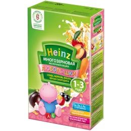 """Heinz кашка молочная """"Многозерновая. Слива, морковь, вишня, чёрная смородина"""" с 12 месяцев, 200 г"""