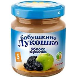 "Бабушкино Лукошко пюре ""Яблоко и чернослив"" с 5 месяцев, 100 г"