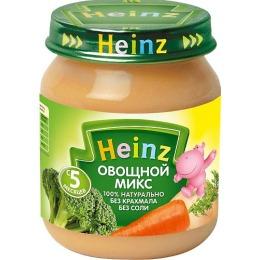 """Heinz пюре """"Овощной микс"""" с 5 месяцев, 120 г"""