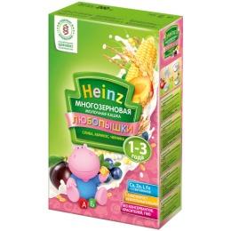 """Heinz кашка молочная """"Многозерновая. Слива, абрикос, черника"""" с 12 месяцев, 200 г"""