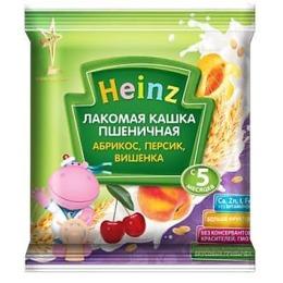 "Heinz кашка молочная ""Пшеничная. Персик, абрикос, вишенка"" с 5 месяцев, 30 г"
