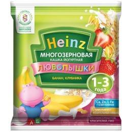 """Heinz кашка """"Йогуртная многозерновая. Банан, клубника"""" с 12 месяцев, 30 г"""