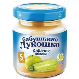 """Бабушкино Лукошко пюре """"Кабачок и яблоко"""" с 5 месяцев, 100 г"""