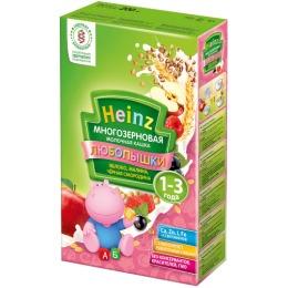 """Heinz кашка молочная """"Многозерновая. Яблоко, малина, чёрная смородина"""" с 12 месяцев, 200 г"""