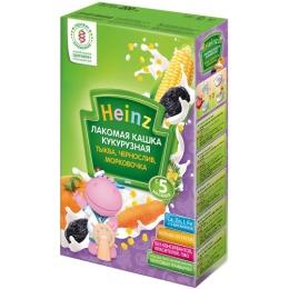 """Heinz кашка лакомая """"Кукурузная. Тыква, чернослив, морковочка"""" с 5 месяцев, 200 г"""