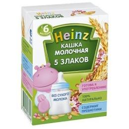 """Heinz каша молочная готовая """"5 Злаков"""" с 6 месяцев, 200 мл"""