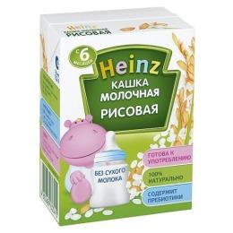 """Heinz каша молочная готовая """"Рисовая"""" с 6 месяцев, 200 мл"""
