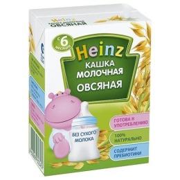 """Heinz каша молочная готовая """"Овсяная"""" с 6 месяцев, 200 мл"""