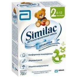 Similac 2 молочная смесь, 6-12 месяцев, 700 г