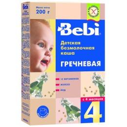 """Bebi каша """"Гречневая"""" с витаминами, железом и йодом с  4 месяцев, 200 г"""