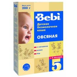 """Bebi каша """"Овсяная"""" с витаминами, железом и йодом с 5 месяцев, 200 г"""
