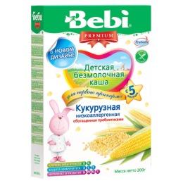 """Bebi Premium каша """"Кукурузная"""" низкоаллергенная с пребиотиками, с 5 месяцев, 200 г"""