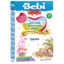 """Bebi Premium каша молочная """"Гречка"""" с 4 месяцев, 200 г"""