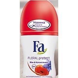 "Fa антиперспирант ""Floral Protect. Мак и колокольчик"" ролик, 50 мл"